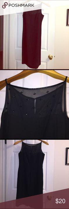 Black Dress. Jones NY. ✨ Black Evening dress. Jones New York. Mid length. Beaded Jones New York Dresses
