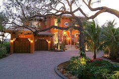 Exterior lighting. It does a home good.