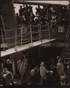 Alfred Stieglitz  The Steerage, 1907Photogravure on vellum  1211/16 x 103/16 in  As proprietor of the Little Galleries of the Photo-Secession and publisher of the photographic journals Camera Notes and Camera Work, Alfred Stieglitz was a major force in the promotion and elevation of photography as a fine art in America in the late nineteenth and early twentieth centuries. The Steerage is considered Stieglitz's signature work, and was proclaimed by the artist and illustrated in his