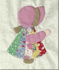 An Idea to go with Sunbonnet Sue .. pieced dress