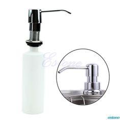 Visit To Plastic 300ml Bathroom Kitchen Sink Liquid Soap Dispenser Holder Storage Bottle