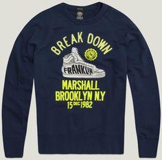 Men's sweatshirt diamond blue   Fleece   Man   Collection   Franklin