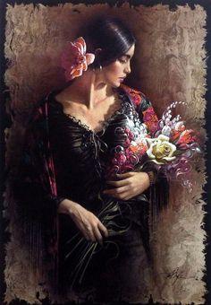 Por Amor al Arte: En su mano un ramo de flores del artista estadounidense Lee Bogle