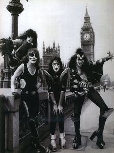 KISS in London during the 70s.