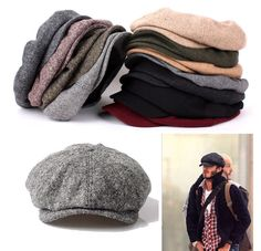 UNISEX MENS WOMENS 8PANEL NEWSBOY CABBIE GATSBY FLAT CAP CLASSIC BAKER GOLF HATS