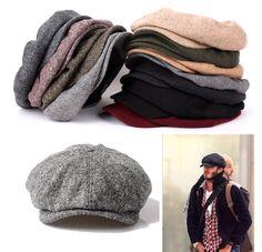 26010099d53 Unisex Mens Womens Tweed Wool Baker Boy Newsboy Gatsby Cap Classic Cabbie  Hats