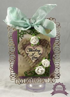 Couture Creations: Thinking of you Tag by Tracey Cooley | #couturecreationsaus #heartsease #tags #decoraitvedies