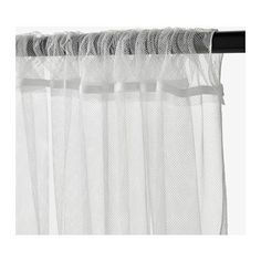 "LILL Lace curtains, 1 pair  - IKEA $5.00 Product dimensions Length: 98 "" Width: 110 "" Weight: 14 oz Area: 75.35 sq feet Package quantity: 2 pack   Length: 250 cm Width: 280 cm Weight: 0.40 kg Area: 7.00 m² Package quantity: 2 pack"