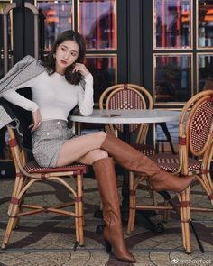 Sexy Boots, Sexy Heels, Brown Boots Outfit, Crotch Boots, Sexy Stiefel, Equestrian Boots, Stiletto Boots, China Girl, Fashion Outfits