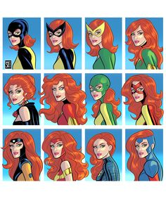 The many looks of Marvel Girl/Jean Grey/The Phoenix Marvel Comic Universe, Comics Universe, Marvel Art, Marvel Heroes, Cosmic Comics, Comic Book Artists, Comic Books Art, Comic Art, Marvel Women