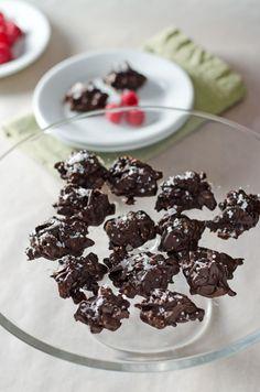 Paleo Salted Chocolate Almond Haystacks