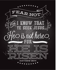 Easter - He is not here for he is risen...
