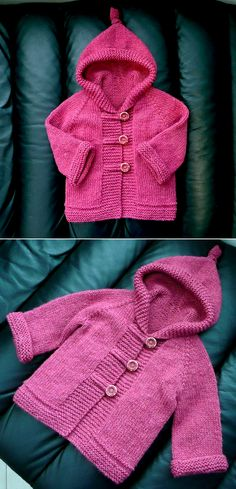 Amazing Knitting provides a directory of free knitting patterns, tips, and tricks for knitters. Knitted Baby Outfits, Knitted Baby Clothes, Crochet Clothes, Free Baby Sweater Knitting Patterns, Knitting For Kids, Free Childrens Knitting Patterns, Pull Bebe, Hoodie Pattern, Baby Girl Crochet