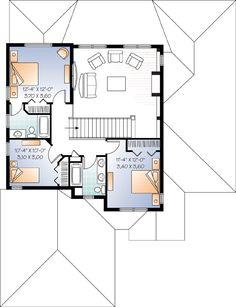 Second Floor Plan of Florida   House Plan 76128