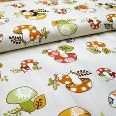 Better Gnomes & Gardens mushrooms cotton fabric  1 yard