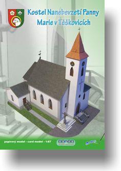 Papírový model - Kostel Nanebevzetí Panny Marie