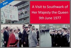 This month's film shows Her Majesty The Queen and The Duke of Edinburgh on a visit to Bermondsey and Rotherhithe as part of The Queen's Silver Jubilee celebrations in 1977. The Queen unveils a commemorative stone near Kings Stairs Gardens and is presented with a leather-bound book of prints of Southwark. There is also a Pageant depicting important periods in Southwark's history.