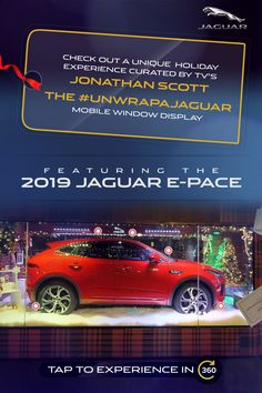 Check out a unique holiday experience, curated by TV's Jonathan Scott: the mobile window display featuring the 2019 Jaguar E-PACE . Tap to experience in Bible Verse Pictures, Jonathan Scott, Jaguar E, Corvette, Window, Display, Tv, Random Things, Fantasy Art