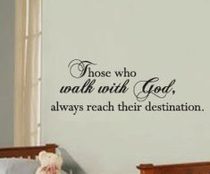 Vinyl Wall Sticker Decal Art Quote Inspirational Christian Walk with God R19. $22.97, via Etsy.