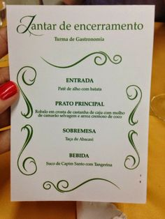 Armazém do Chef: Jantar de encerramento Turma de gastronomia do 2 p...