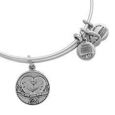 Want: Alex and Ani Lovebirds Heart Russian Silver