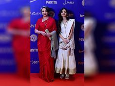 Sharmila Tagore with daughter Saba pose during the BCCI Annual awards in Bengaluru