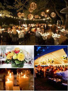 such a gorgeous night wedding