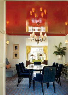 Orange Abd Blue Living Rooms