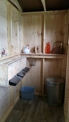 Nesting boxes with plexiglass viewing window and roll down egg trays
