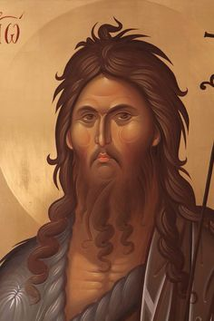 .... Religious Images, Religious Icons, Religious Art, Byzantine Icons, Byzantine Art, Greek Icons, Bible Pictures, John The Baptist, Paintings I Love