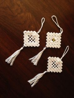 Beautiful Handmade Hardanger Ornaments by BluebirdSewingCottag, $20.00