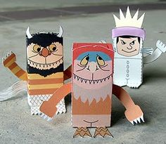 where the wild things are printable 3 d paper craft