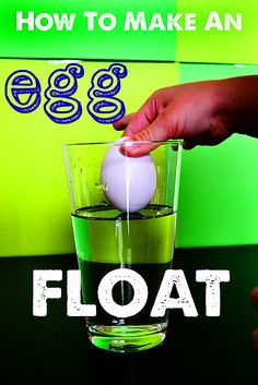 How to Make an Egg Float-We did this experiment to examine density and my kids went crazy... really made the concept of density understandable for them.