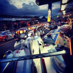 Qualifying Traffic JamTom Kristensenwould go on to set the fastest qualifying time at the 24 Hours of Le Mans (via wheelsnheels)