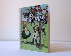 Alice in Wonderland Spiral Notebook 4 x 6 by Ciaffi on Etsy, $12.50