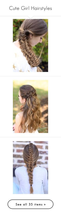 """Cute Girl Hairstyles"" by serena-serena ❤ liked on Polyvore"