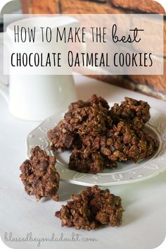 These chocolate oatmeal cookies are AWESOME! Oh my! You can have just one.