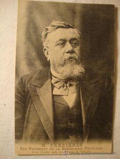 ANTIGUA TARJETA POSTAL 8º PRESIDENTE DE LA REPUBLICA FRANCESA AÑO 1906 Fallières Fallieres.