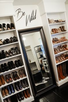 Shannon Jenkins of Upbeat Soles does a closet office reveal and shows how you can convert a spare bedroom into a closet with an Ikea Billy Bookcase hack - home decor ideas - closet inspiration - edgy style Spare Room Closet, Spare Bedroom Closets, Dressing Room Closet, Closet Office, Dream Closets, Closet Space, Bedroom Turned Closet, Closet Rooms, Pax Closet