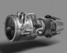 Thomas Moeller / Rolls Royce / Jet Engine / Rendering / 2012