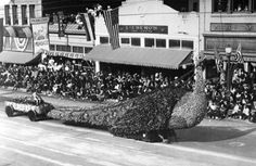 City of Glendale peacock float in the Tournament of Roses Parade in Pasadena, 1920. [Photo Credit: LA Public Library Photo Collection]
