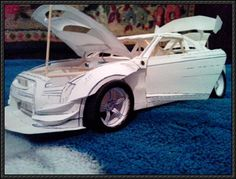 Nissan GT-R CBA-R35 Paper Car Free Vehicle Paper Model Download - http://www.papercraftsquare.com/nissan-gt-r-cba-r35-paper-car-free-vehicle-paper-model-download.html