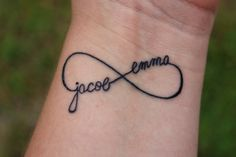 Personalized Infinitytattoo With Children's Names. Love It.