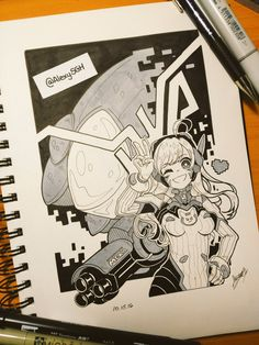 Sandra  в Твиттере: «[DAY 15] NERF THIS! ~~  #inktober #inktober2016 #Overwatch #DVa | @TheArtBond @dibujando https://t.co/yTbuYOBPay»