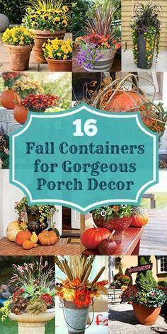Autumn Decorating, Porch Decorating, Fall Outdoor Decorating, Decorating Ideas, Fall Flower Pots, Fall Planting Flowers, Flowers Garden, Summer Flowers, Fall Planters