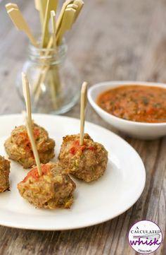 Chicken Meatballs with Garlic Kale Marinara Recipe