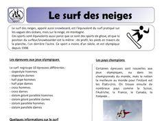 Aperçu miniature d'un élément Drive Snowboard, Surf, French Resources, Winter Activities, Olympics, Miniature, Education, Sports, Google Drive