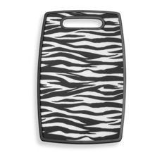 Zebra Pattern Cutting Board- They have zebra for everything lolol