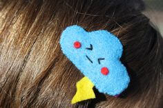"""Items similar to Felt hair pins, patches and brooches """"Happy Clouds"""" on Etsy Hair Pins, Brooches, Patches, Felt, Clouds, Create, Happy, Handmade, Etsy"""
