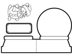 coloring pages snow globe google search coloring pages pinterest sch ner. Black Bedroom Furniture Sets. Home Design Ideas